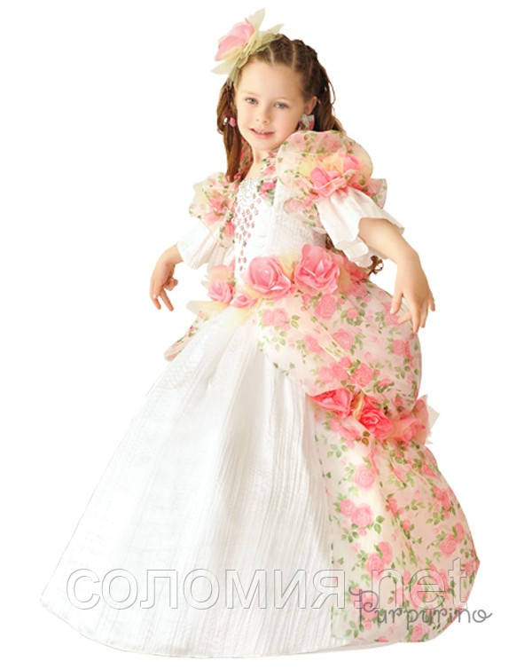 Детский костюм для девочки Принцесса с розами