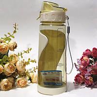 Спортивная бутылка с ремешком 700 мл, желтый