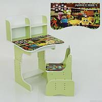Регулируемая детская парта со стульчиком Майнкрафт