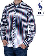 Рубашка мужская в клеточку Ralph Lauren.