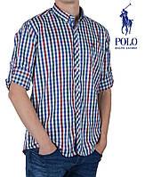 Стильная мужская рубашка в клетку Ralph Lauren.