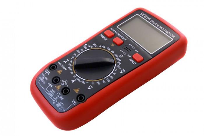 Профессиональный тестер vc61a, цифровой мультиметр, подсветка, функция data hold, автоотключение