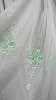Тюль кристалон с вышивкой Лиа