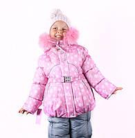 """Зимний комбинезон для девочек """"Розовая снежинка"""""""