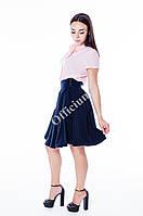 Женская юбка-клеш с завышенной талией