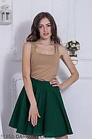 Женская юбка солнце-клеш Подіум Warence 11850-DARKGREEN XS Зеленый