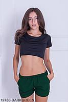 Женские шорты Подіум Dillon 19780-DARKGREEN XS Зеленый