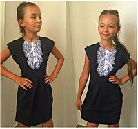 Школьное платье для девочки,8-10 лет(Черный)