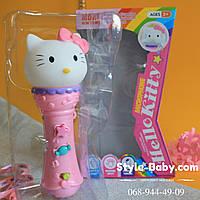 Детский микрофон Китти музыкальная игрушка 26см
