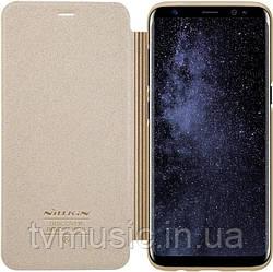 Чехол-книжка Nillkin Sparkle Leather PU Gold для Samsung S8 G950