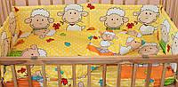 Комплект постельного белья в детскую кроватку Барашки желтый  из 3-х элементов