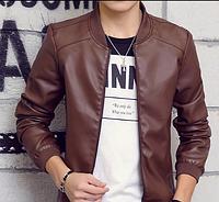 Мужская кожаная куртка. Модель 61111