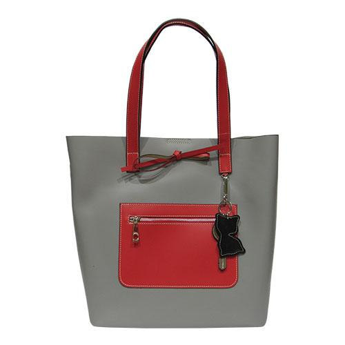 530bb41b358d Женская сумка Felicita 437 из натуральной кожи фабричная итальянская серого  цвета на одно отделение - Интернет