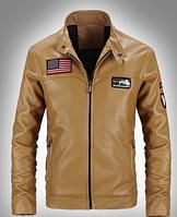 Мужская кожаная куртка. Модель 61112