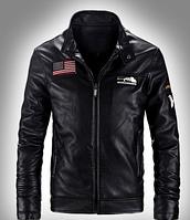Мужская кожаная куртка. Модель 61112, фото 3