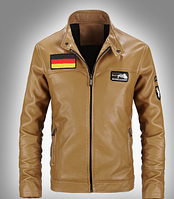 Мужская кожаная куртка. Модель 61112, фото 5