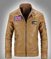 Мужская кожаная куртка. Модель 61112, фото 6