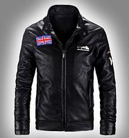 Мужская кожаная куртка. Модель 61112, фото 8