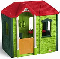 Детский игровой домик Cambridge Little Tikes - США - оснащен кухонной панелью, уютным камином, скамеечкой