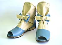 Летние ботинки на низком ходу