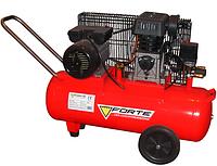 Компрессор двухпоршневой 2.2 кВт, ресивер 100 л, 335 л/мин, 8 Атм, 220 В Forte ZA 65-100