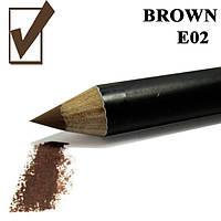 Карандаш для глаз и губ, цвет  Brown, коричневый косметический Nabi E02