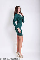 Женское платье Подіум Galea 21091-DARKGREEN XS Зеленый