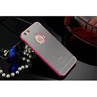 """Чехол бампер Apple iPhone 6 4.7"""" розовый с зеркалом"""