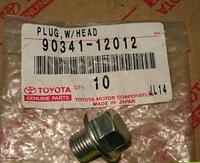 Пробка поддона картера сливная (производство TOYOTA ), код запчасти: 9034112012