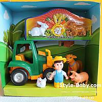 Детская Ферма игровой набор трактор животные коробка24-13-25 см