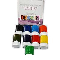 Набір фарб по шовку Батік 9штх50мл Decola, фото 1