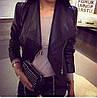 Курточка женская короткая из экокожи P7167