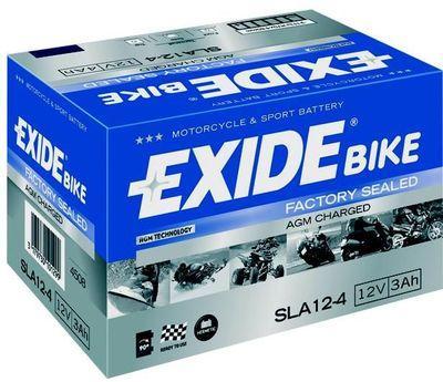 Аккумулятор залитый и заряженный AGM 3Ah 50A EXIDE SLA12-4 = AGM12-4