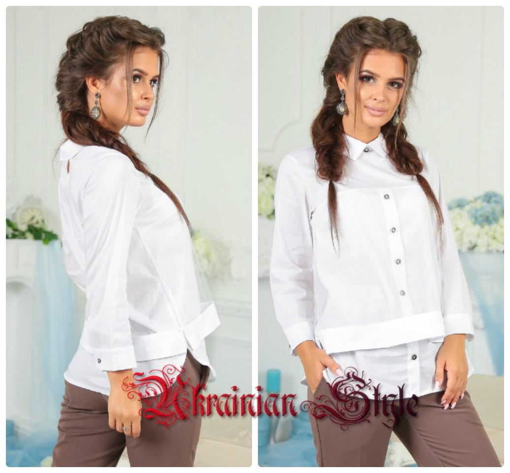 21e72f9bbca Женская нарядная белая блуза с сеткой