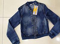 Курточка женская короткая из джинса P7169