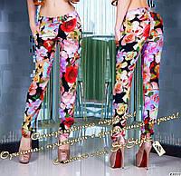 Летние брюки из штапеля много цветов размер норма