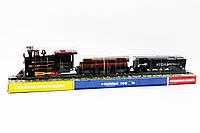 Паровоз батар платформа с бревнами вагон под слюдой