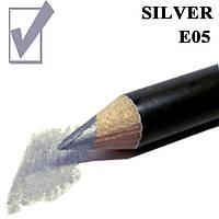 Карандаш для глаз и губ, цвет Silver Серебро косметический Nabi E05