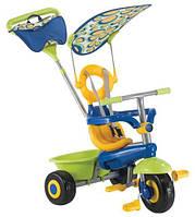 Детский трехколесный велосипед Fresh 3в1 зелен/голуб