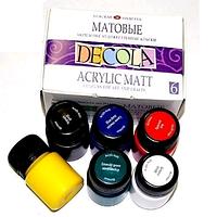 Набір акрилових фарб 6х20мл Матові, Decola
