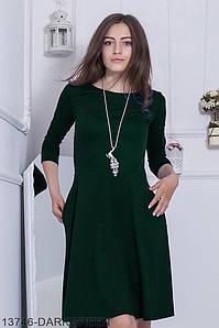 Женское платье Подіум Fenberries 13746-DARKGREEN S Зеленый
