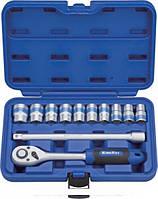 Набор инструментов 12 предметов, 1/2 дюйма, 6 граней, 12-24 мм, King Roy 30185-012