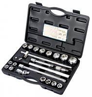 Набор инструментов 23 предмета, 3/4 дюйма, 6 граней, 19-50 мм, Alloid НГ- 6023М