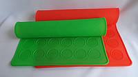 """Силиконовый коврик для печенья """"Макаронс"""" 30 см 40 см"""