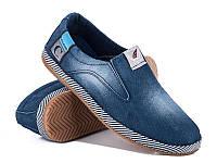Мужские стильные джинсовые мокасины оптом от производителя Cinar 2285-7M (8пар 40-44)