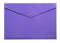 Папка, конверт на кнопке, А4, фиолетовая, непрозрачная, Norma, 5017, 501773