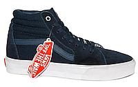 Темно-синие женские кеды Vans Sk8 (Вансы) N0168