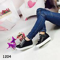 Ботиночки женские на шнурках, удобная и модная модель +Бесплатная доставка  37,38 р-ры, фото 1