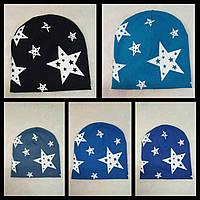 """Детская хлопковая шапочка с дизайнерским рисунком  """"Star"""""""