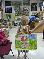 """Картина """"Заяц и фиалки"""""""
